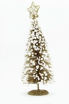 Free Christmas Pine Tree With Snow Stock Photography - 17407372