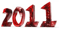 Free 2011 New Year Of Red Water Stock Photos - 17407733