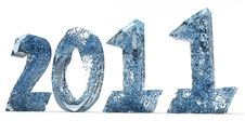 Free 2011 New Year Of Blue Water Stock Images - 17407744