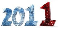 Free 2011 New Year Of Blue Water And Red Stock Photo - 17407760