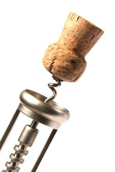 Free Corkscrew With Cork Stock Images - 17408134