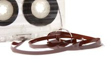 Free Audio Cassette With Tape Tangle Stock Photos - 17408173