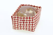 Free A Basket Of Red And White With World Crystal Globe Royalty Free Stock Photography - 17408177