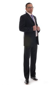Free Business Man Isolated Against White Royalty Free Stock Photos - 17408178