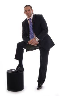 Free Business Man Isolated Against White Stock Photography - 17408232