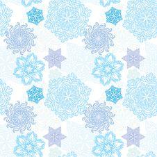 Free Snowflake Seamless Pattern Stock Images - 17408294