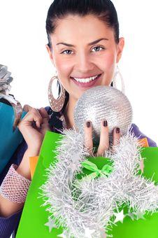 Free Christmas Girl Stock Images - 17408514