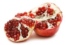 Free Pomegranate Isolated Over White Stock Photo - 17408620