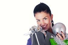 Free Christmas Girl Stock Photography - 17408632
