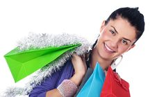 Free Christmas Girl Stock Images - 17408704