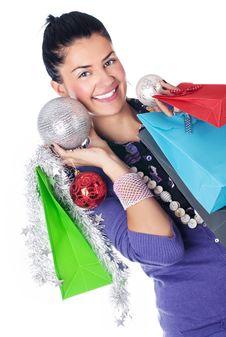 Free Christmas Girl Stock Photography - 17408772