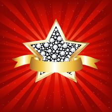 Free Gold Star. Vector Stock Photography - 17408832