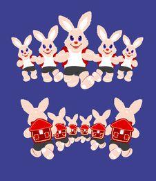 Free Bunnies Running Stock Photography - 17409052