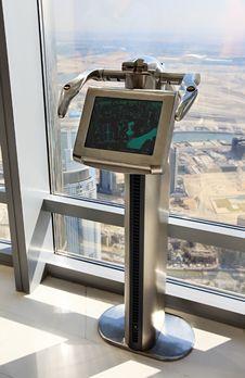 Free Digital Telescope On The Lookout Burj Khalifa. Royalty Free Stock Photos - 17409058