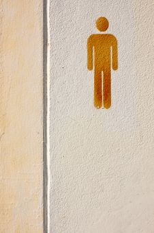 Free Restroom Sign Royalty Free Stock Photo - 17409205