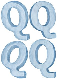 Free Icy Letter Q. Stock Photo - 17409220
