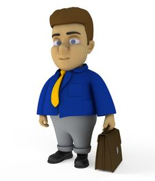 Free The Businessman 3d Character Stock Photography - 17409322