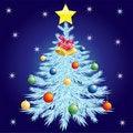 Free Christmas Tree. Royalty Free Stock Photography - 17412267