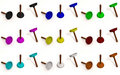 Free Color Toilet Plungers Royalty Free Stock Images - 17412539