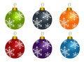 Free Set Of Christmas Balls Stock Images - 17413674