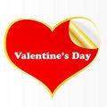 Free Heart Sticker. Stock Photography - 17417402