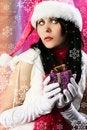 Free Santa S Helper With Snowflakes Royalty Free Stock Photo - 17417825