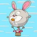 Free Hare Balloon Of Santa Claus Royalty Free Stock Image - 17419026