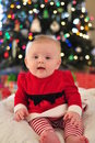 Free Happy Santa Baby Stock Image - 17419891
