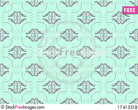 Free Blue Damask Seamless Wallpaper Royalty Free Stock Photos - 17415318