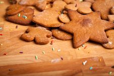 Traditional Home Baked Ginger Cookies Stock Photography
