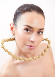 Portrait With A Beads Stock Images