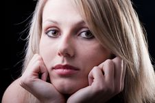 Free Young Satisfied Woman Daydreaming Stock Photo - 17411330