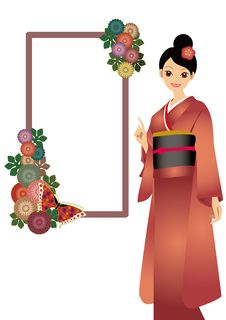 Free The Woman Who Wore A Kimono Royalty Free Stock Images - 17412709