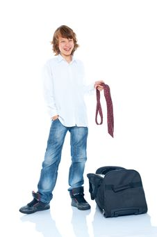 Boy Traveler Stock Photography