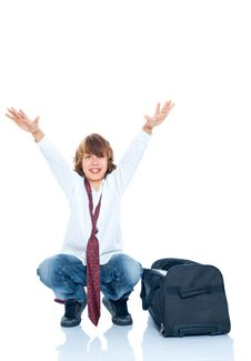 Free Boy Traveler Stock Image - 17412871