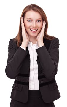 Free Portrait Of Amused Business Woman. Royalty Free Stock Photography - 17413427
