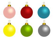 Free Set Of Christmas Balls Stock Photos - 17413613
