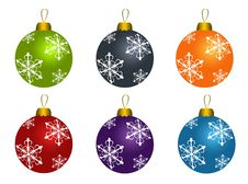 Free Set Of Christmas Balls Stock Images - 17413674