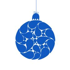 Free Blue Christmas Ball Stock Images - 17413714
