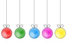 Free Set Of Christmas Balls Royalty Free Stock Photos - 17413808