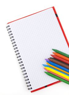 Free Pencils With A Notebook Royalty Free Stock Photos - 17413958
