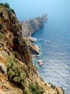 Free Alanya. The Peninsula In Mediterranean Sea. Turkey Royalty Free Stock Photos - 17414638