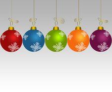 Free Set Of Christmas Balls Stock Image - 17415181