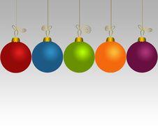 Free Set Of Christmas Balls Stock Photography - 17415202