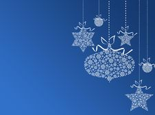 Free Blue Background With Christmas Balls Royalty Free Stock Image - 17415246