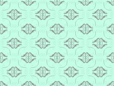 Blue Damask Seamless Wallpaper Royalty Free Stock Photos