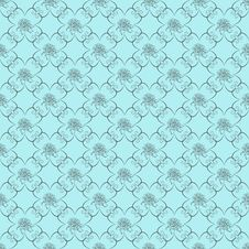 Free Blue Damask Seamless Wallpaper Royalty Free Stock Photos - 17415368