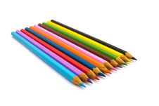 Free Pencils In A Row Royalty Free Stock Images - 17415749