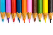 Free Pencils In A Row Stock Photography - 17415772