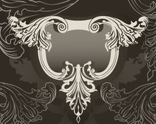 Free Revival Ornate Frame Background Royalty Free Stock Photo - 17415875